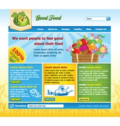 food website template vector image