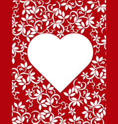 Frame to the day of lovers vector