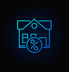 Leasing property blue icon vector