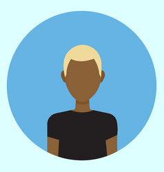 male avatar profile icon round african american vector image vector image