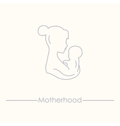 Medicine and pregnancy line icon vector image