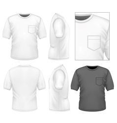 Mens t-shirt design template vector image vector image