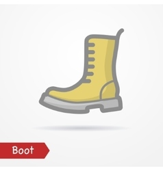 Military boot icon vector