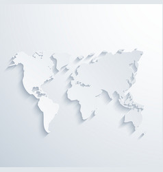 modern map with long shadow vector image