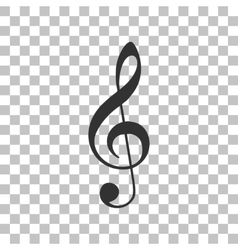 Music violin clef sign g-clef treble clef dark vector