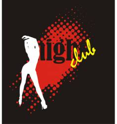 nightclub poster vector image