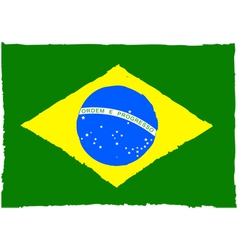 Painted brazilian flag vector