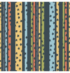 pattern strips stars vector image
