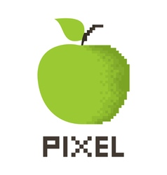 Pixel apple vector