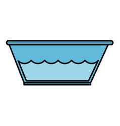 plastic laundry container with water vector image vector image