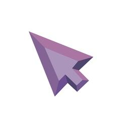 Polygonal Arrow Icon with geometrical figures vector image vector image