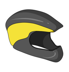 Protective helmet for cyclists protection for the vector