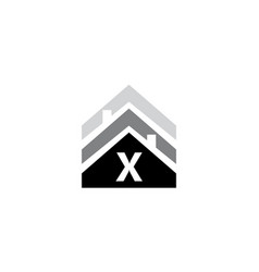 real estate initial x vector image vector image