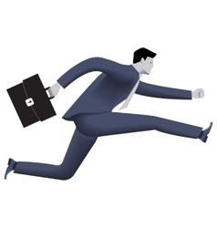Running businessman business template vector