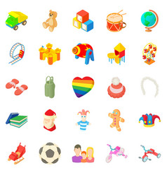 Time for games icons set cartoon style vector