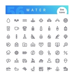 Water Line Icons Set vector image vector image