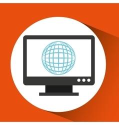 Web development computer gear global vector