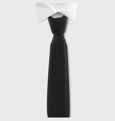 White shirt mockup realistic shirt with black tie vector