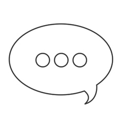 Conversation bubble icon vector