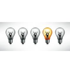 Light bulb The concept of idea vector image