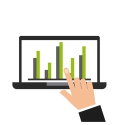 Laptop computer growth icon vector