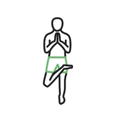 Tree pose right vector