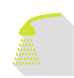 Shower simple sign pear icon with flat style vector