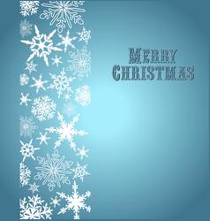 Christmas Snowflake Card Silver Blue vector image