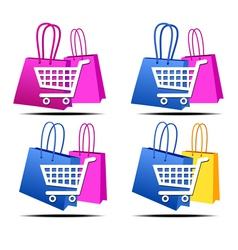 Internet shopping icons vector