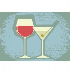 bar poster vector image