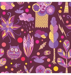 Purple spring pattern with forest vector image