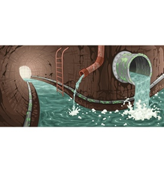 Inside the sewer vector