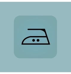 Pale blue middle ironing icon vector