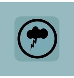 Pale blue thunderstorm sign vector