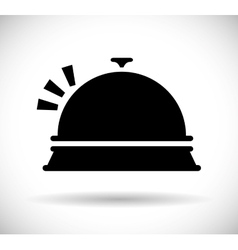 Restaurant dish icon vector
