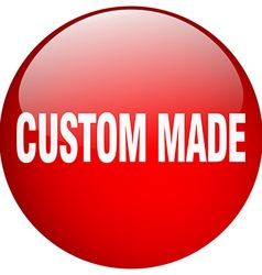 Custom made red round gel isolated push button vector