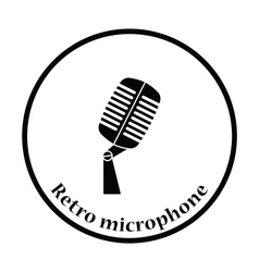 Old microphone icon vector