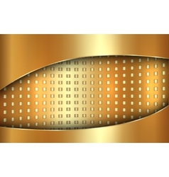 Abstract golden background in tabloid format vector