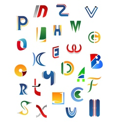 Alphabet letters and icons vector