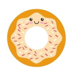 donut character isolated icon vector image