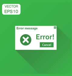 Error warning message icon business concept virus vector