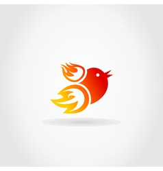 Fire a bird vector