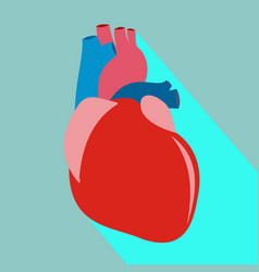 heart with long shadow vector image