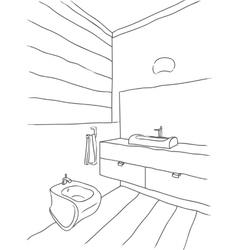 Luxury bathroom interior vector
