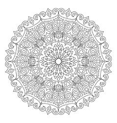 Mandala coloring book vector