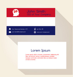 nederland flag color business card design eps10 vector image vector image