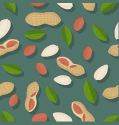 peanut seamless pattern vector image vector image