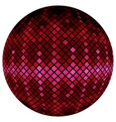 pink mosaic ball vector image