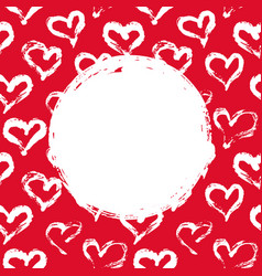 red and white hearts card vector image