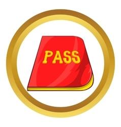 Red passport icon vector